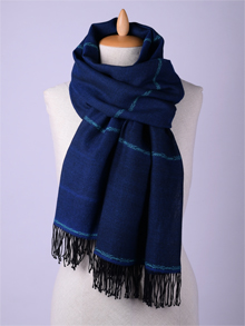 ILLANGO FASHION, HANDWOVEN SCARVES, cotton scarf with eye ornament