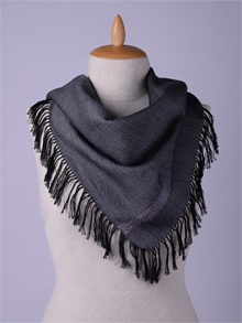 ILLANGO FASHION, HANDWOVEN SCARVES, viscose scarf with eye ornament