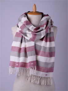 ILLANGO FASHION, HANDWOVEN SCARVES, striped cotton scarf
