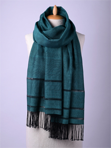ILLANGO FASHION, HANDWOVEN SCARVES, cotton scarf with open-work