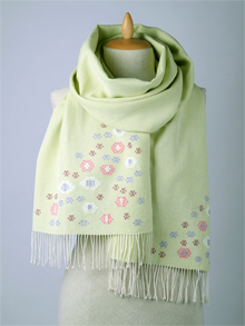 ILLANGO FASHION, HANDWOVEN SCARVES, cotton scarf with flowers